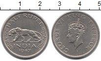 Изображение Монеты Индия 1/2 рупии 1947 Медно-никель XF Георг VI
