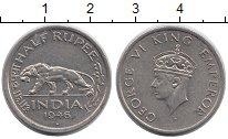 Изображение Монеты Азия Индия 1/2 рупии 1946 Медно-никель XF