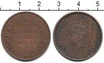 Изображение Монеты Азия Индия 1/4 анны 1939 Бронза XF