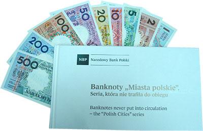 Изображение Банкноты Польша Польские города 1990  UNC `Набор пробных банкн