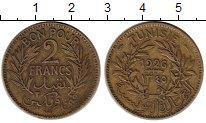 Изображение Монеты Африка Тунис 2 франка 1926 Латунь XF