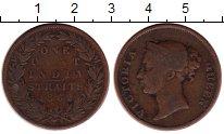 Изображение Монеты Великобритания Стрейтс-Сеттльмент 1 цент 1862 Медь VF