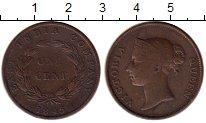 Изображение Монеты Стрейтс-Сеттльмент 1 цент 1845 Медь VF