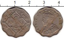 Изображение Монеты Индия 1 анна 1925 Медно-никель XF Георг V