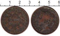 Изображение Монеты Стрейтс-Сеттльмент 1 цент 1845 Медь VF Виктория