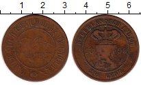 Изображение Монеты Нидерландская Индия 2 1/2 цента 1899 Медь VF Герб