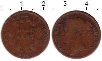 Изображение Монеты Стрейтс-Сеттльмент 1/2 цента 1845 Медь VF