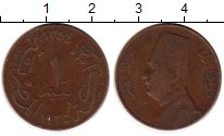 Изображение Монеты Африка Египет 1 миллим 1935 Бронза VF