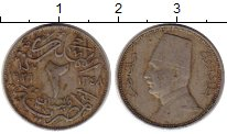 Изображение Монеты Египет 2 миллима 1929 Медно-никель XF-