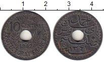 Изображение Монеты Тунис 10 сантим 1942 Цинк XF Французский протекто