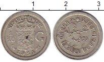 Изображение Монеты Нидерландская Индия 1/10 гульдена 1914 Серебро XF Герб