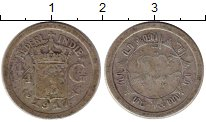 Изображение Монеты Нидерландская Индия 1/4 гульдена 1917 Серебро VF Герб