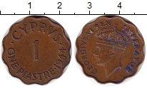 Изображение Монеты Кипр 1 пиастр 1944 Бронза XF ГеоргVI