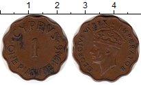 Изображение Монеты Кипр 1 пиастр 1946 Бронза XF