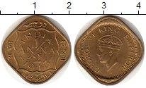 Изображение Монеты Азия Индия 1/2 анны 1943 Латунь XF+