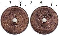 Изображение Монеты Великобритания Родезия 1 пенни 1963 Бронза UNC-