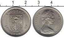 Изображение Монеты Великобритания Родезия 10 центов 1964 Медно-никель UNC-