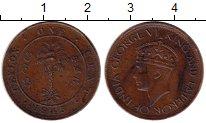 Изображение Монеты Шри-Ланка Цейлон 1 цент 1943 Бронза VF