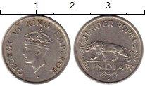 Изображение Монеты Индия 1/4 рупии 1946 Медно-никель XF Георг VI