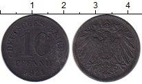 Изображение Монеты Германия 10 пфеннигов 1921 Цинк VF