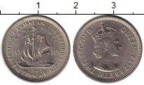 Изображение Монеты Карибы 10 центов 1965 Медно-никель VF