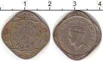 Изображение Монеты Индия 1/2 анны 1941 Медно-никель VF Георг VI