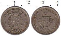 Изображение Монеты Ангола 2,5 эскудо 1956 Бронза VF