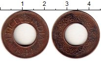 Изображение Монеты Индия 1 пайс 1944 Медно-никель XF Георг VI