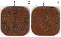 Изображение Монеты Великобритания Малайя 1 цент 1943 Бронза XF
