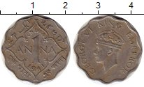 Изображение Монеты Индия 1 анна 1941 Медно-никель XF Георг VI