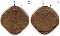 Изображение Монеты Азия Индия 1/2 анны 1943 Латунь XF