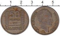 Изображение Монеты Африка Алжир 50 франков 1949 Медно-никель VF