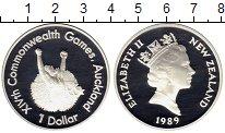 Изображение Монеты Австралия и Океания Новая Зеландия 1 доллар 1989 Серебро Proof