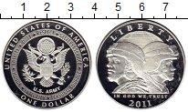 Изображение Мелочь Северная Америка США 1 доллар 2011 Серебро Proof