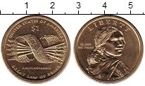 Изображение Мелочь США 1 доллар 2010 Латунь UNC-