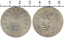 Изображение Монеты Европа Франция 100 франков 1992 Серебро XF