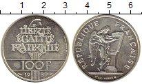 Изображение Монеты Франция 100 франков 1989 Серебро UNC-