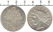 Изображение Монеты Европа Франция 100 франков 1988 Серебро UNC-