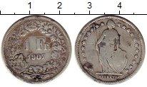 Изображение Монеты Швейцария 1 франк 1907 Серебро VF