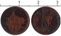 Изображение Монеты 1894 – 1917 Николай II 1 пенни 1912 Медь VF