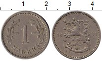 Изображение Монеты Европа Финляндия 1 марка 1931 Медно-никель XF