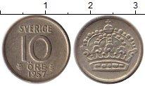 Изображение Монеты Европа Швеция 10 эре 1957 Серебро XF