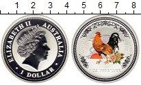 Изображение Монеты Австралия 1 доллар 2005 Серебро Proof-