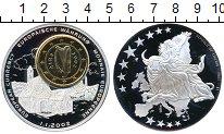 Изображение Монеты Либерия Медаль 1 евро Ирландия 2002 Посеребрение Proof-