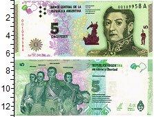 Продать Банкноты Аргентина 5 песо 0