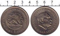 Изображение Монеты Сьерра-Леоне 1 леоне 1974 Медно-никель XF Президент Сиака Стев