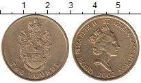 Изображение Монеты Великобритания Остров Вознесения 2 фунта 2002 Латунь VF