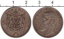 Изображение Монеты Румыния 1 лей 1894 Серебро VF+
