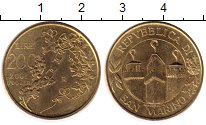 Изображение Монеты Сан-Марино 200 лир 2001 Латунь UNC