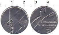 Изображение Монеты Европа Сан-Марино 10 лир 1990 Алюминий UNC